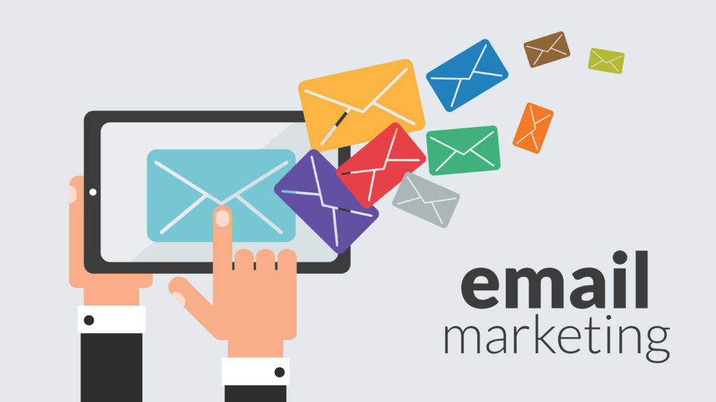 email marketing. Vector online advertising